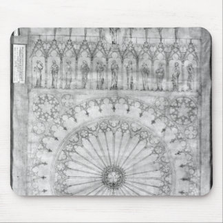 Design for the rose window and gallery of mousepad