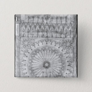 Design for the rose window and gallery of pinback button