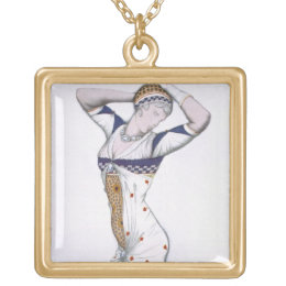 Design from A Fantasy of Modern Costume, 1912 (col Gold Plated Necklace