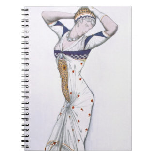 Design from A Fantasy of Modern Costume, 1912 (col Spiral Notebook