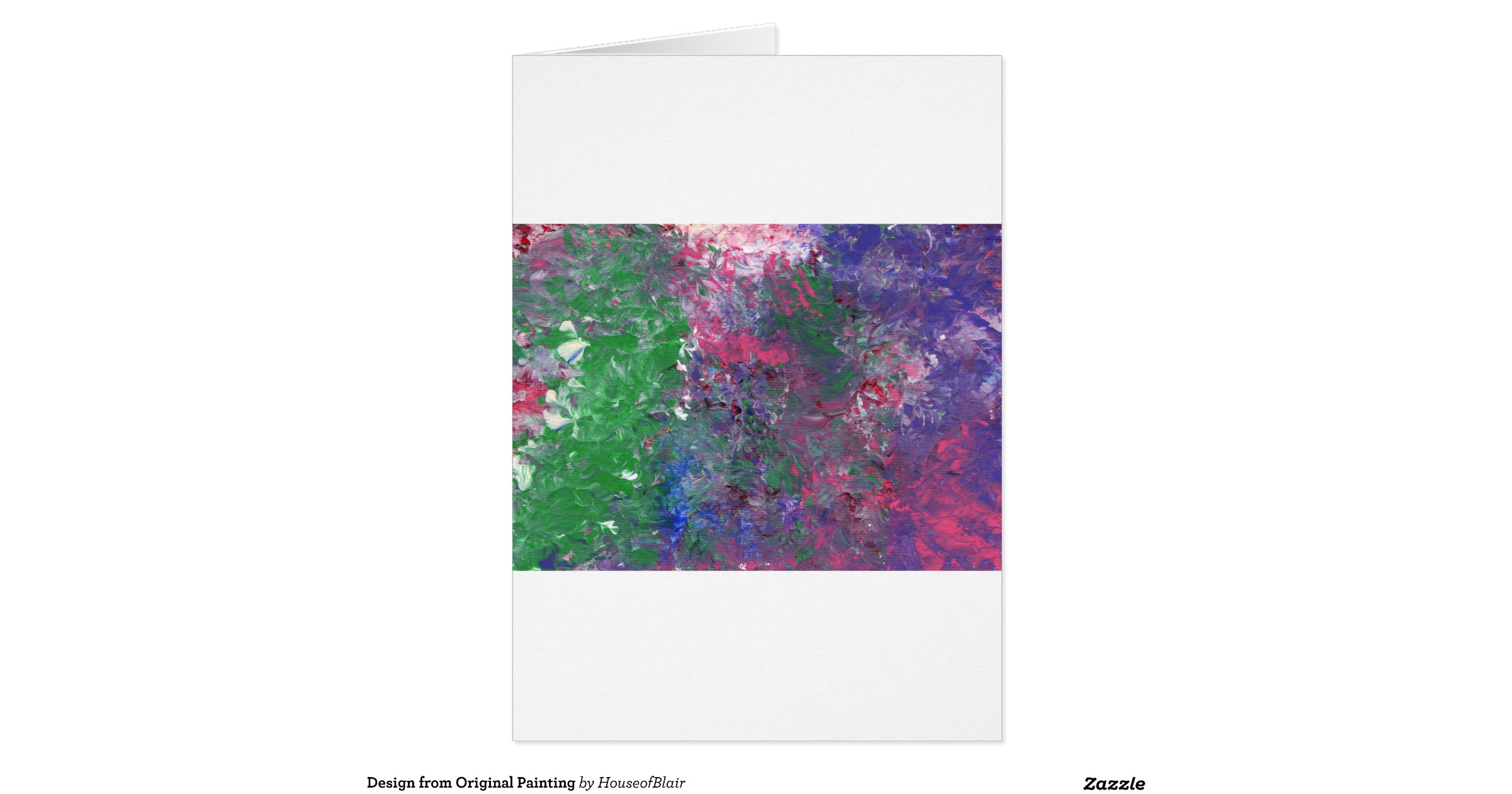 Design from Original Painting Greeting Card | Zazzle