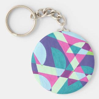 Design from Original Painting Basic Round Button Keychain