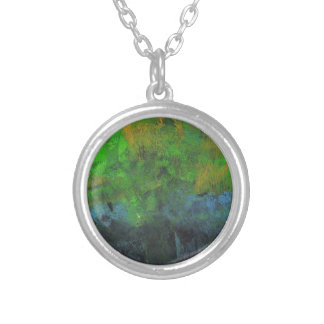 Design from Original Painting Round Pendant Necklace