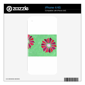 Design from Original Painting Skins For iPhone 4S