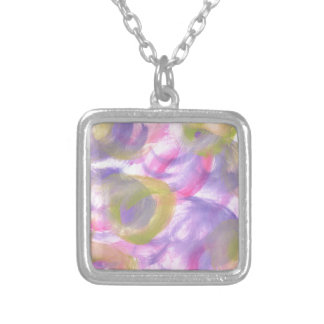 Design from Original Painting Square Pendant Necklace