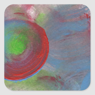 Design from Original Painting Square Sticker