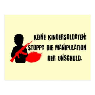 Design für Kinderrechte: Keine Kindersoldaten! Postcard