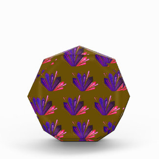 Design gems on blue acrylic award