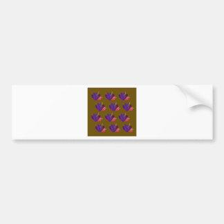 Design gems on blue bumper sticker