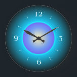 """Design Green/Aqua/Purple&gt;Wall Clock<br><div class=""""desc"""">A pretty design in green and aqua, which includes a purple centre.Numerals to match .Available in square and round shapes. Note:This is not a led product.It is a printed design.</div>"""