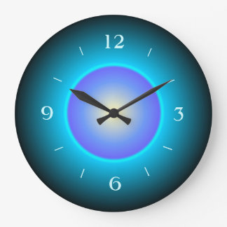 Design Green/Aqua/Purple>Wall Clock