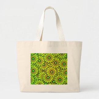 Design Green Colors Circle, Wall, Shapes Round, Ar Large Tote Bag
