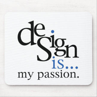 Design is... (blue) mouse pad