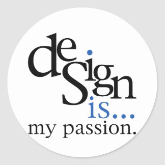 Design is blue stickers