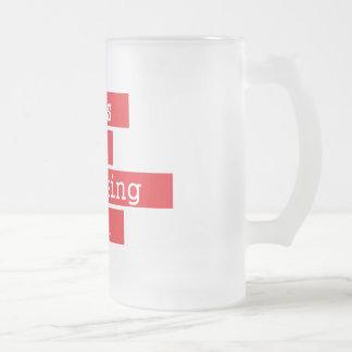 Design is Honest - Red Frosted Glass Beer Mug