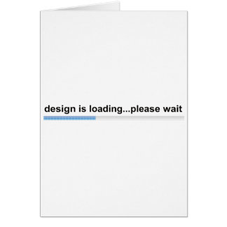 design is loading card
