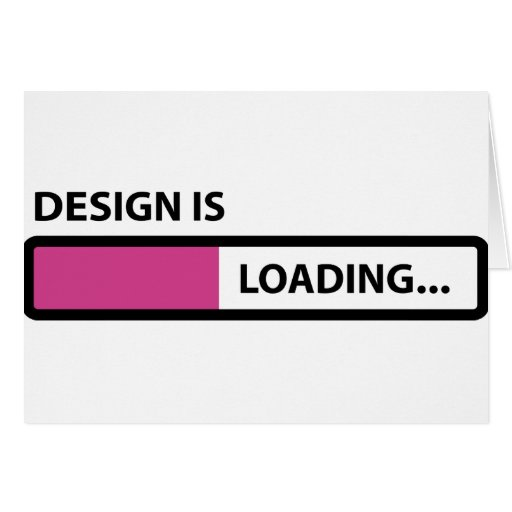 Design is loading greeting card