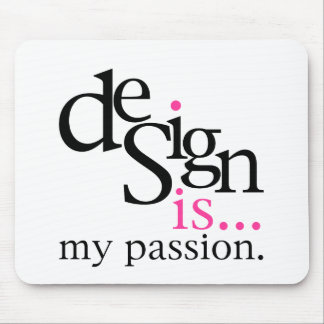 Design is... (pink) mouse mats