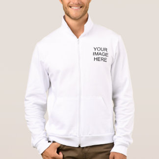 Design It American Apparel Fleece Zip Jogger Printed Jacket