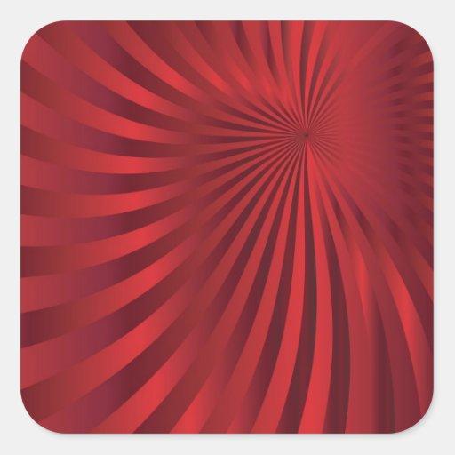 design.jpg rojo abstracto pegatina cuadrada