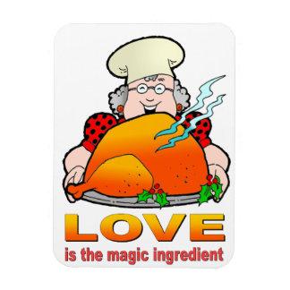 Design Love de cocinar retro es el ingrediente mág Iman Rectangular
