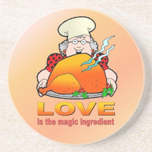 Design.Love de cocinar retro es el ingrediente mág Posavasos Cerveza
