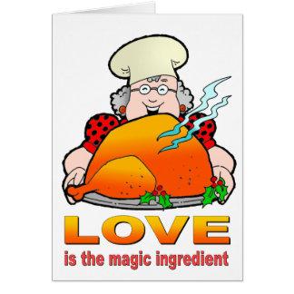 Design.Love de cocinar retro es el ingrediente Tarjeta Pequeña