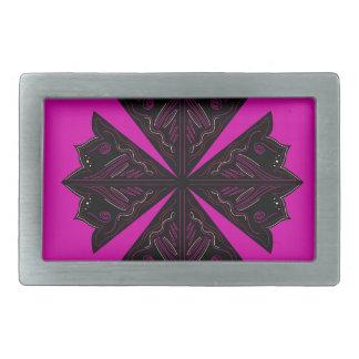 Design mandala ethno Pink Rectangular Belt Buckle