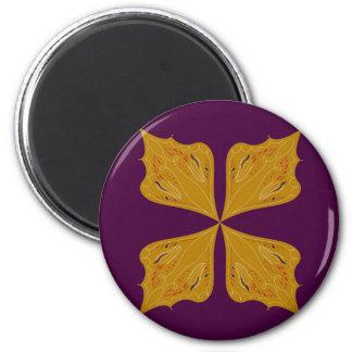 Design mandala gold wine ethno magnet