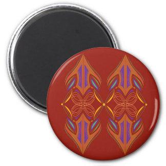 Design mandalas eco brown magnet