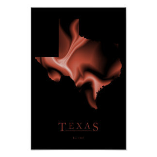 Design Map Poster of Texas