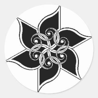 design merchandise classic round sticker