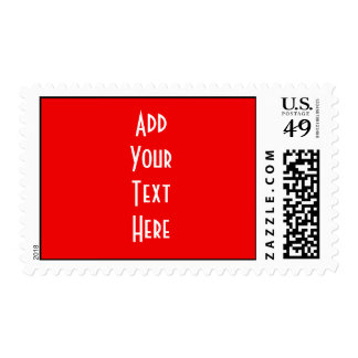 Design My Own Red Postage Stamp for Weddings Party