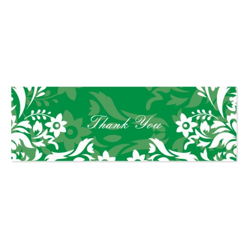 Design No.2 Thank you Gift Tag - GREEN TEA Business Card Template