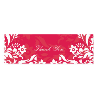 Design No.2 Thank you Gift Tag - RASPBERRY Mini Business Card
