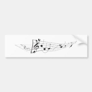 Design Of A Twisting Musical Score Bumper Sticker