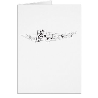 Design Of A Twisting Musical Score Stationery Note Card