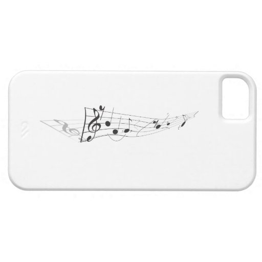 Design Of A Twisting Musical Score iPhone 5 Case