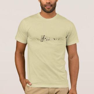 Design Of A Twisting Musical Score T-Shirt