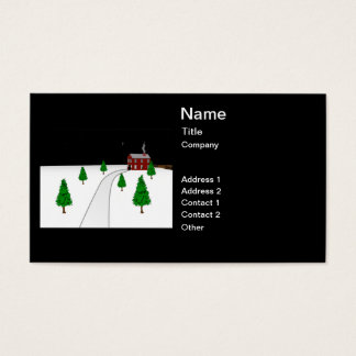 Design of a Winter Christmas Snow Scene Business Card