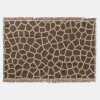 Design of African leopard throw blanket.