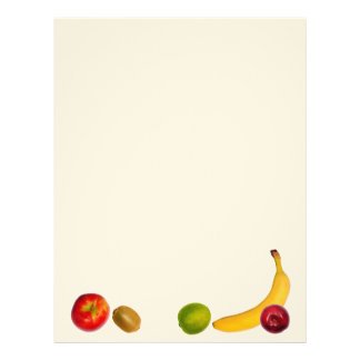 Design of fruits. Feel free to add your own text. Letterhead