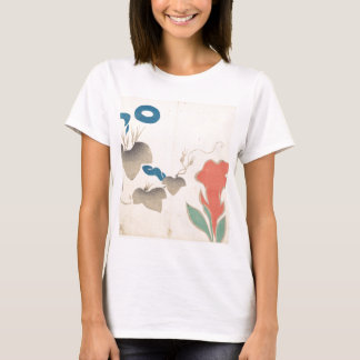 Design of Morning–glory and Other Flowers T-Shirt