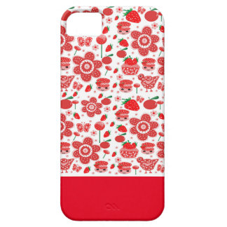design of strawberries and cakes iPhone SE/5/5s case