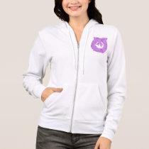 Design on Pocket : Women's Fleece Raglan Zip Hoodi Hoodie