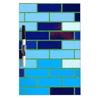 Design Pattern- Blue Dry Erase Whiteboard