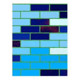 Design Pattern- Blue Postcards
