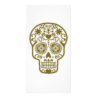 Design pattern skull card