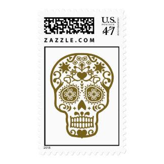 Design pattern skull postage