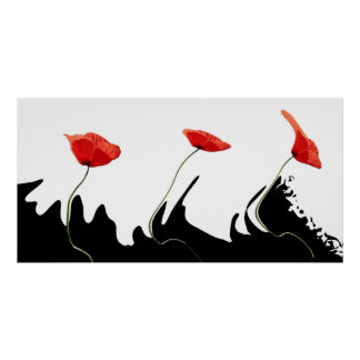 Design poppies poster